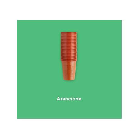 PLASTIC CUPS 100PCS - ORANGE