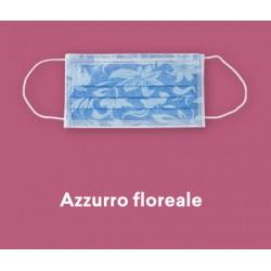 CONFEZIONE MASCHERINE PROTECTION 3 50PZ - FLOREALE AZZURRO
